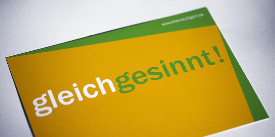 KISS - Typografische Postkarten
