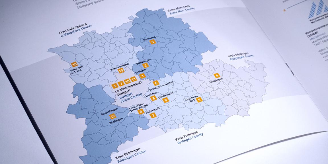Kompetenzzentren - Regionslandkarte