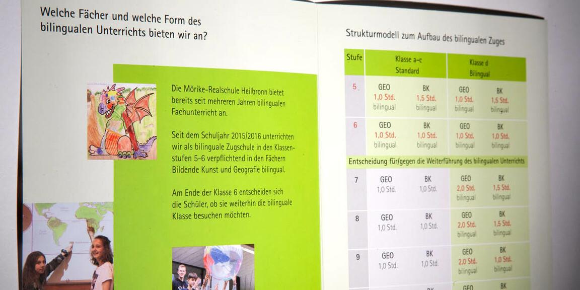 Moerike-Realschule Heilbronn - doppelseitiges Layout