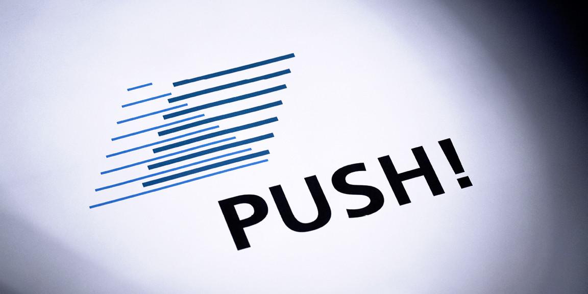 PUSH - Bildmarke, Linien