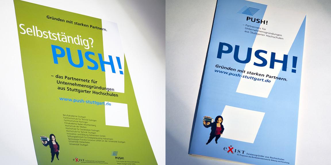 PUSH - Zusammenarbeit, Plakatserien
