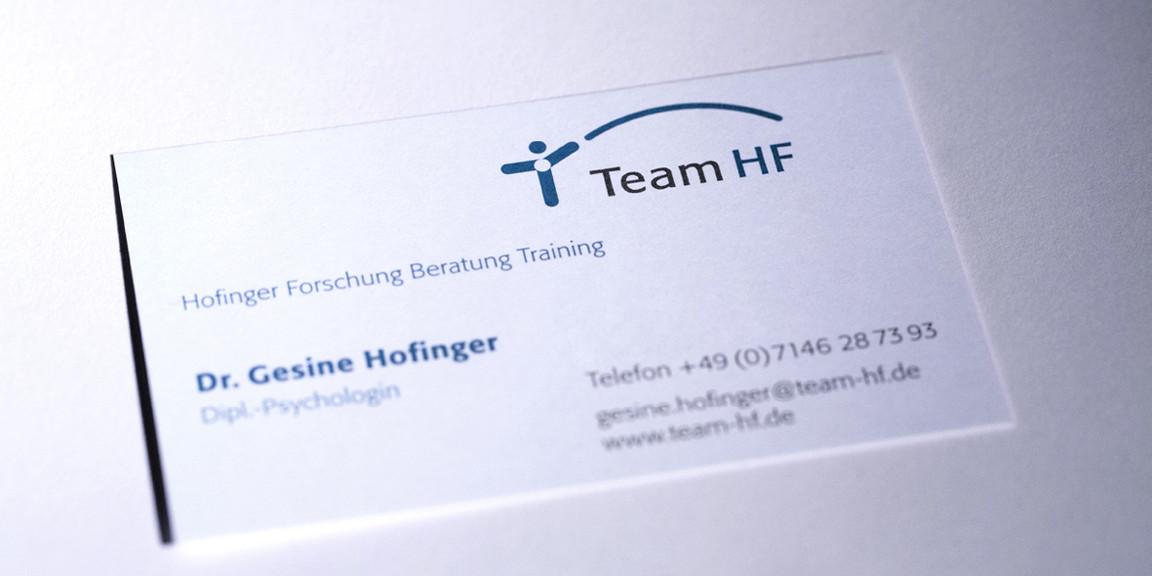 Team HF - Visitenkarte