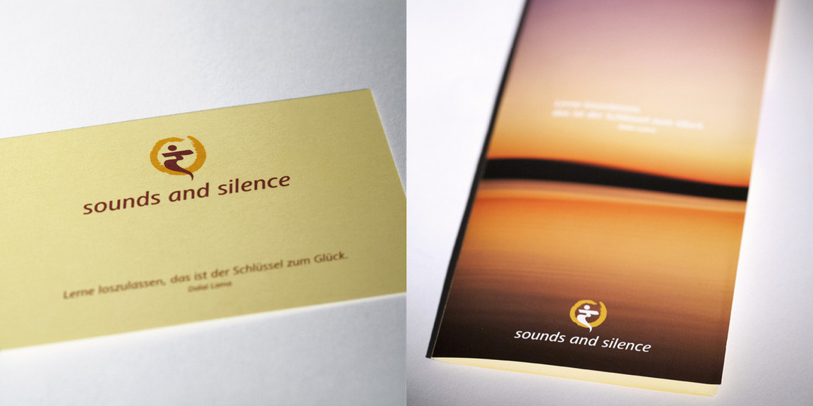sounds and silence - Faltblatt.