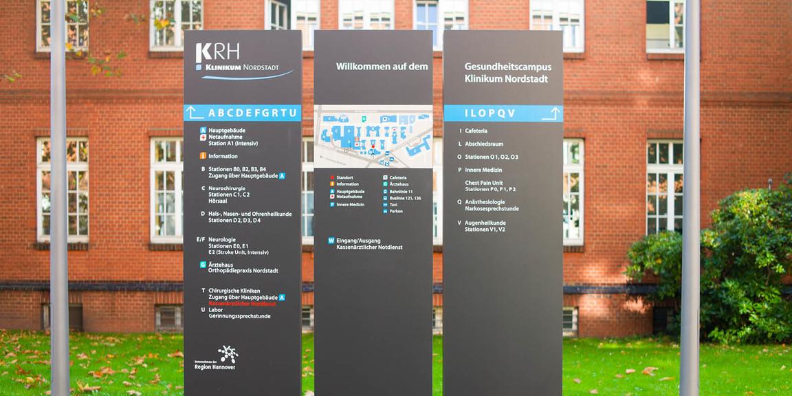 Orientierungssystem - Klinikum - Region - Hannover - Nordstadt - 04