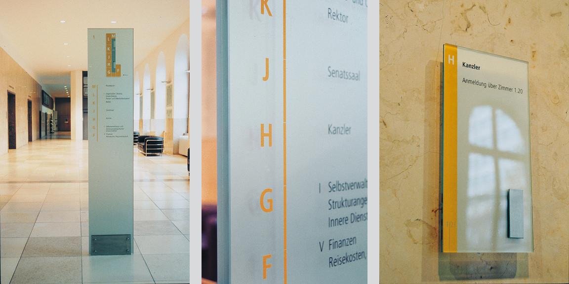 Orientierungssystem - Leitsystem - Universitaet - Stuttgart
