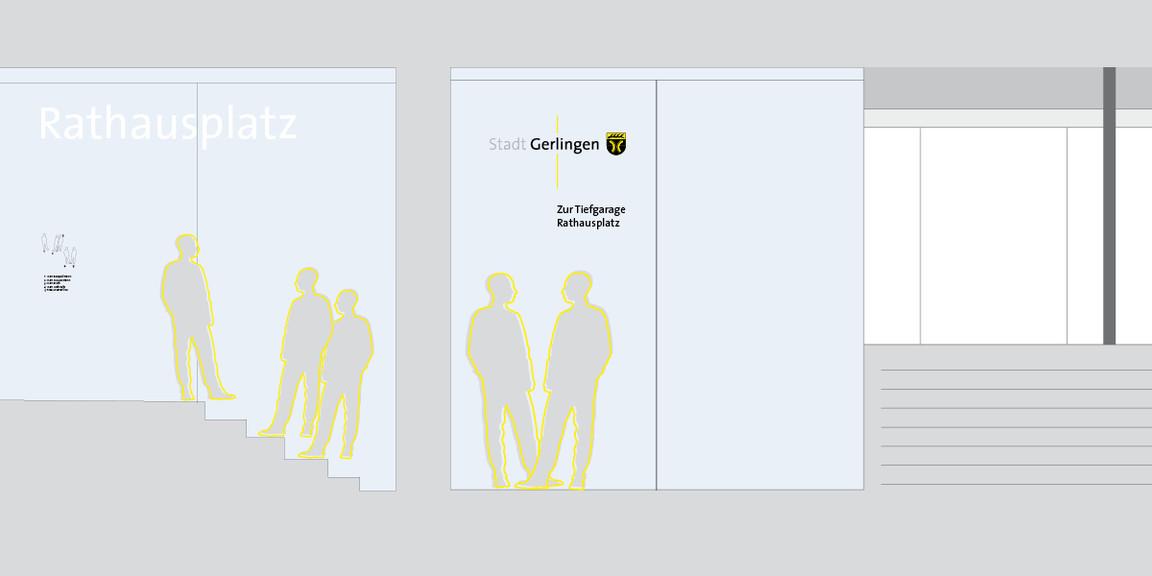 Leitsystem - Stadt - Gerlingen - Tiefgarage - 02