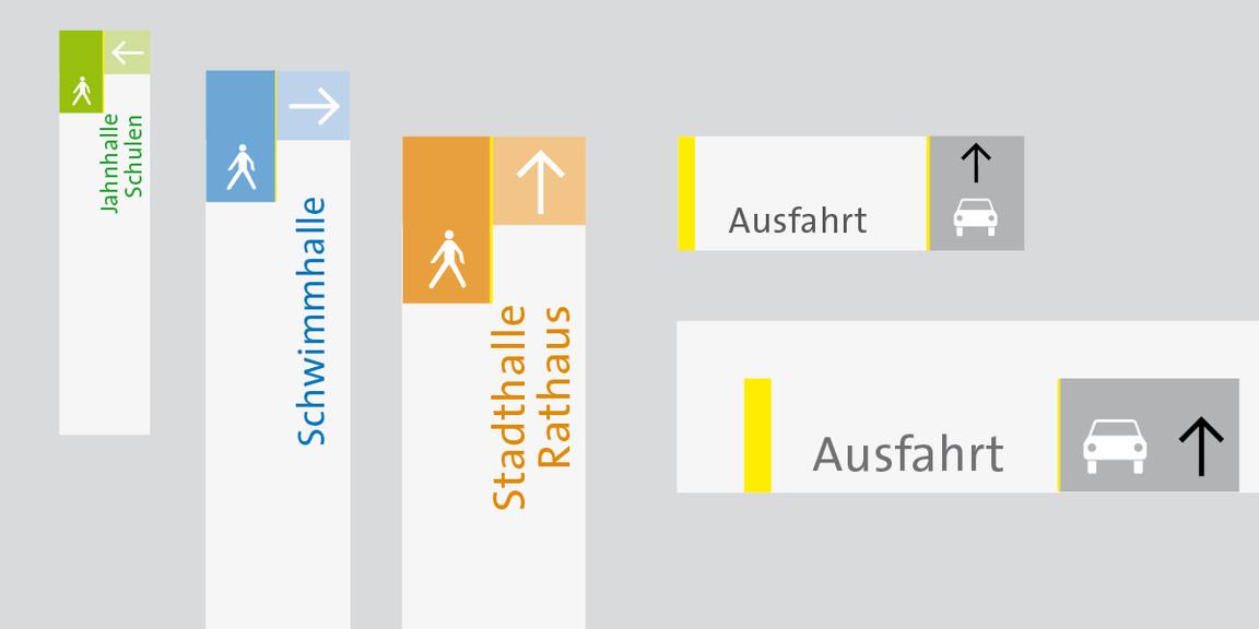 Leitsystem - Stadt - Gerlingen - Tiefgarage - 03