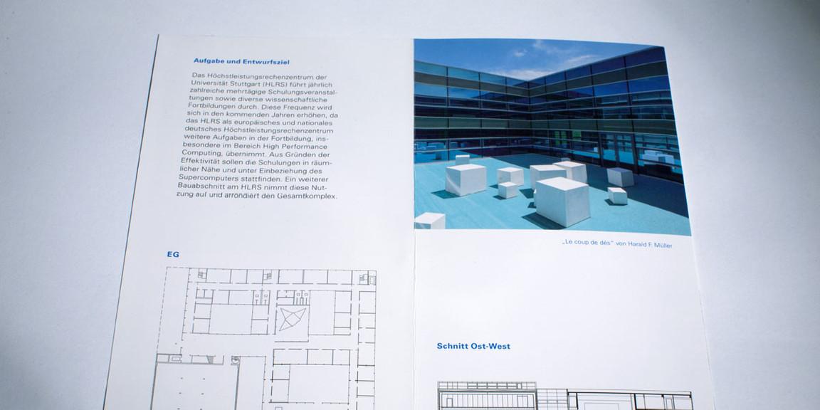 Vermoegen und Bau - Doppelseite mit Grundrissplan und Ansicht